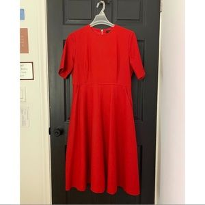 Roolee - XL - fully lined red midi dress